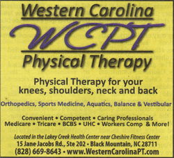 Western Carolina Physical Therapy in the Black Mountain News